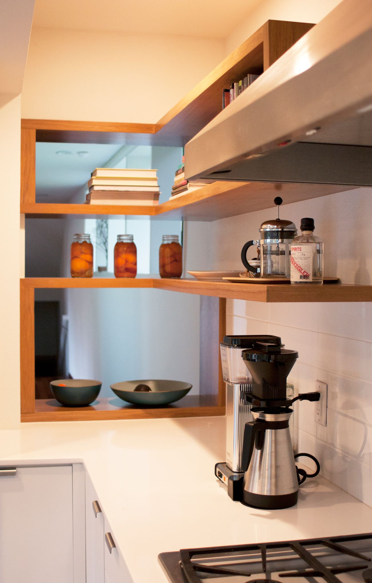 Modern kitchen shelves - Open Shelves In Modern Kitchen Designed By Bright Designlab And Built By Hammer Hand