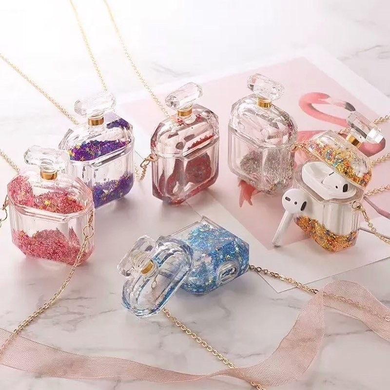 Luxury Glitter Perfume Bottle AirPods Case