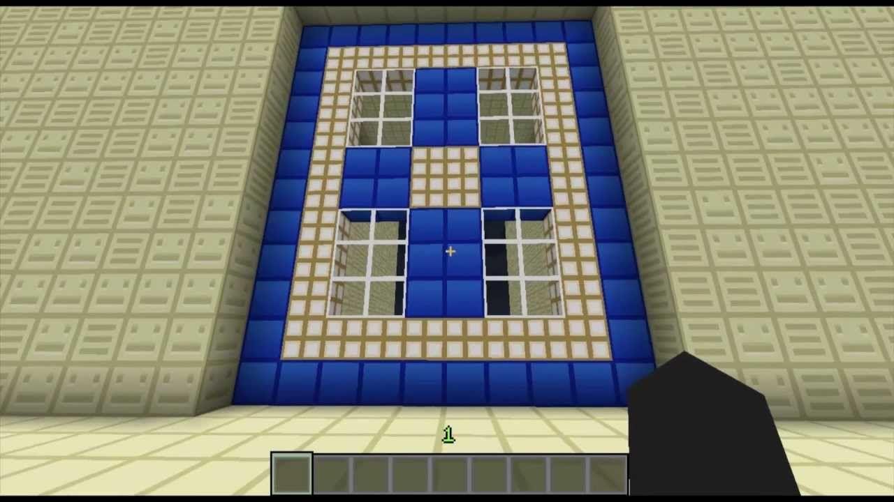 Biggest Piston Door Ever Made 12x10 25 Sub Special Card Making Skyscraper Minecraft