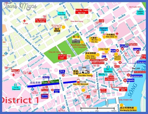 cool Ho Chi Minh City Map Tourist Attractions | Tours Maps ...