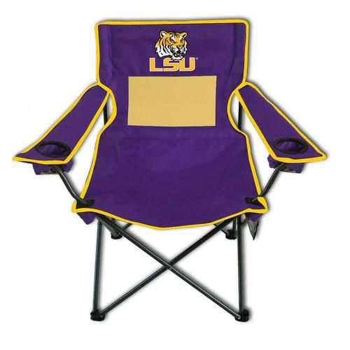 Lsu Tigers Quad Folding Camp Chair With Carrying Case Folding