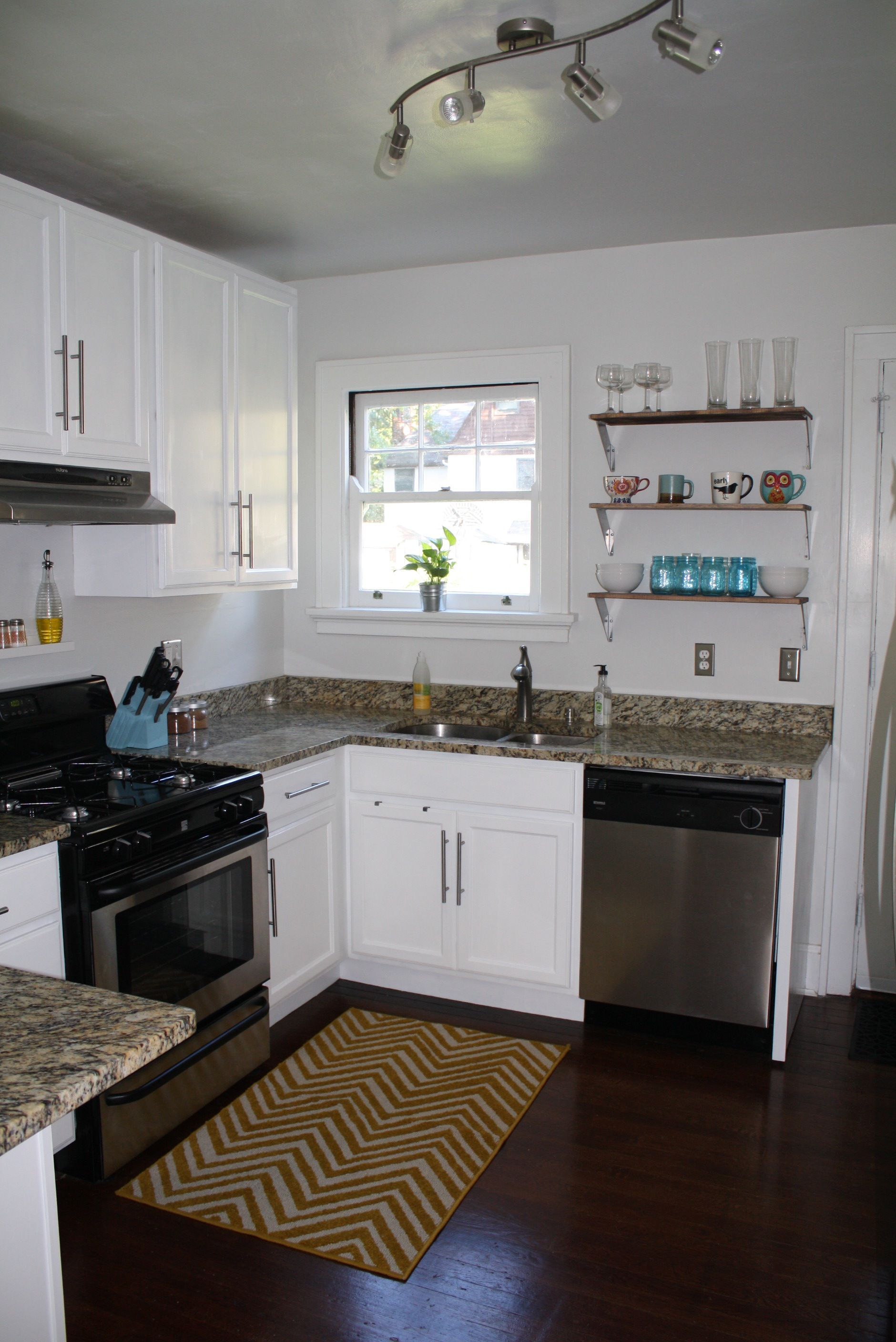DIY painted kitchen Painted white over dark