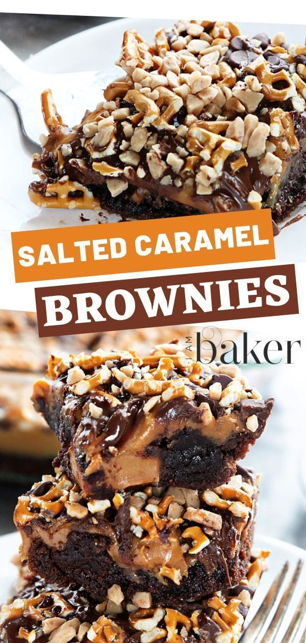 Photo of Salted Caramel Brownies {VIDEO} | i am baker