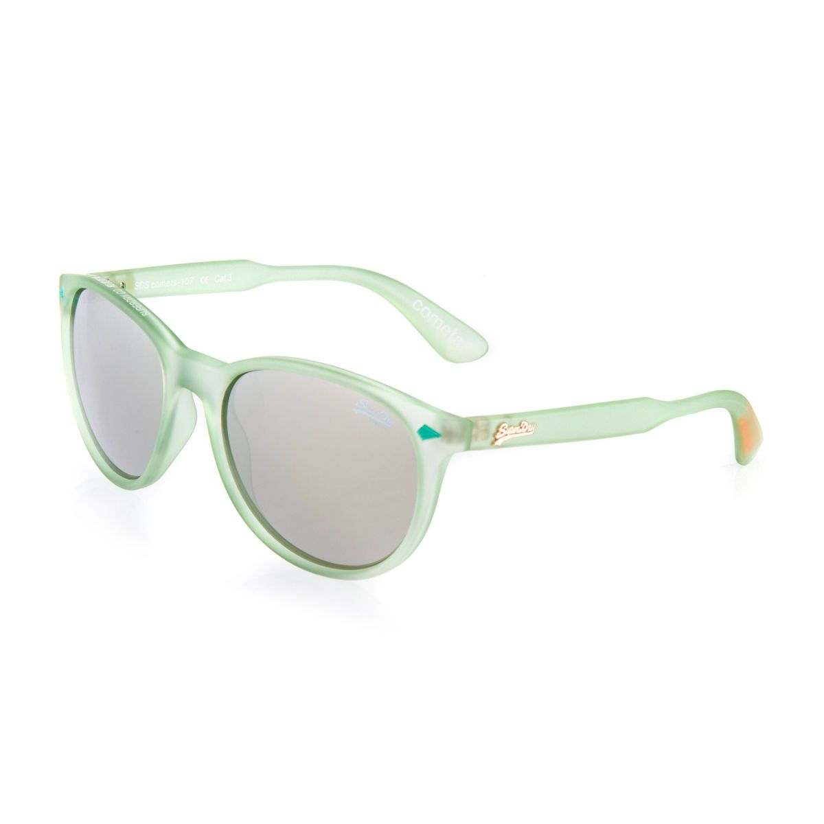5a3339fd4c86e7 Superdry Comets Sunglasses - Matte Pastel Green chrome Mirror ...