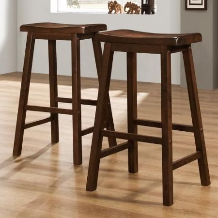 Homelegance 29 In Saddle Back Stool Warm Cherry Walmart Com