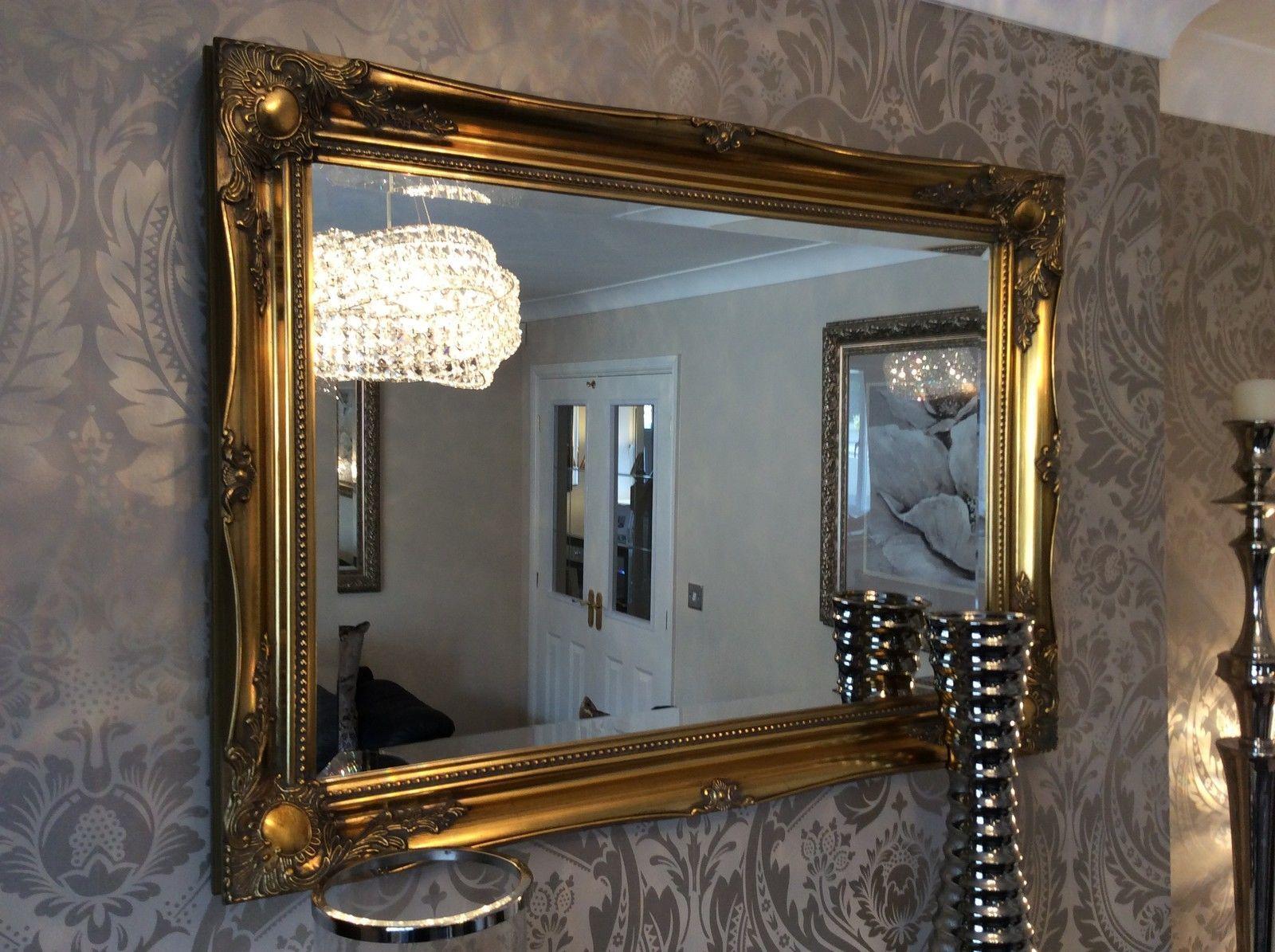 Large Antique Gold shabby chic ornate Decorative over mantle Gilt ...