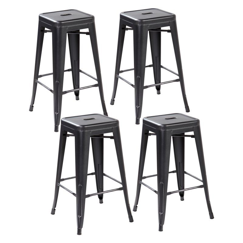 United Chair Industries Industrial Counter Stool Set Of 4