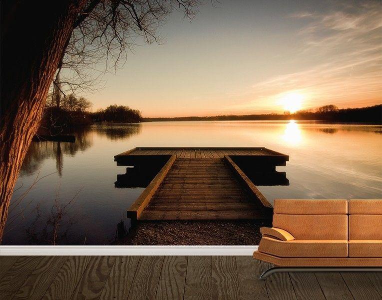 fototapete herbstlicher steg | fototapete, romantisch und tapeten