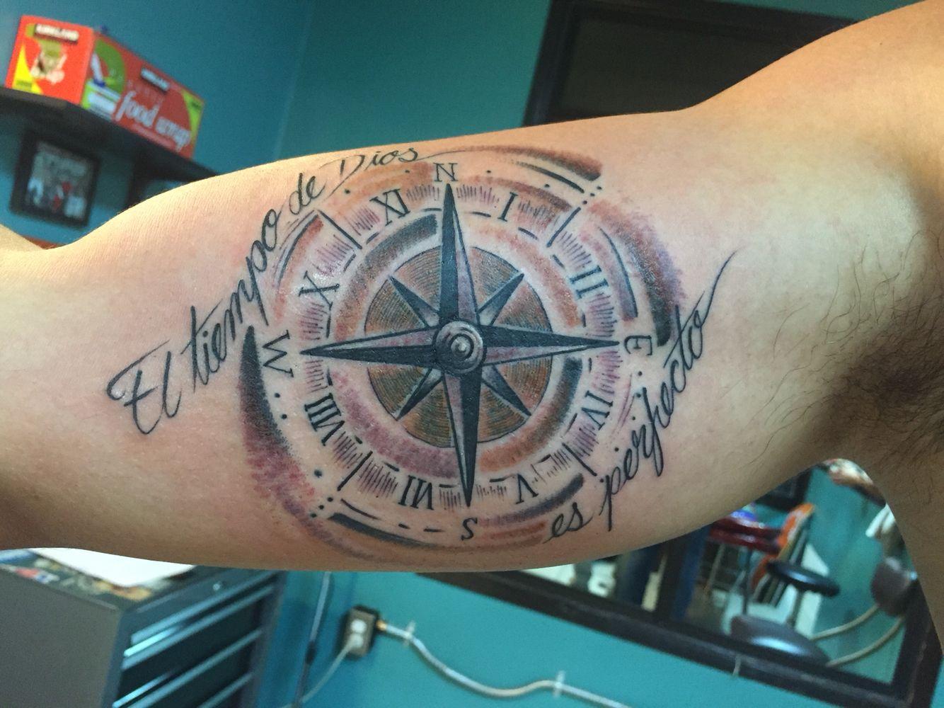 Compass Watch Tatto El Tiempo De Dios Es Perfecto Tatuajes