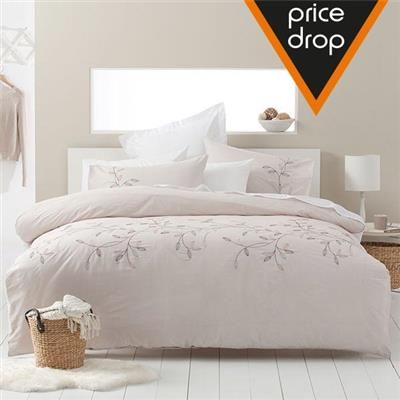 image for queen bed vines embellished quilt cover set from kmart