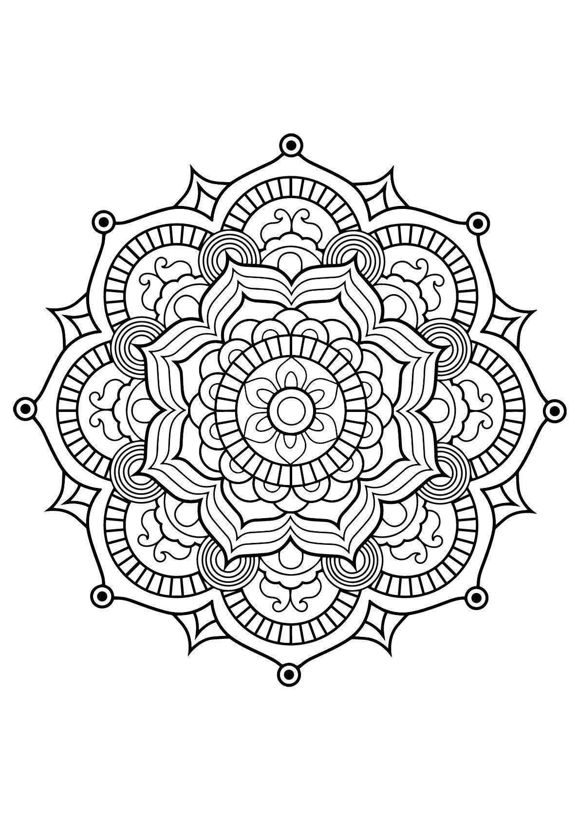 Easy Craft Ideas For The Home Kostenlose Ausmalbilder Mandalas Kinder Mandala Ausmalen