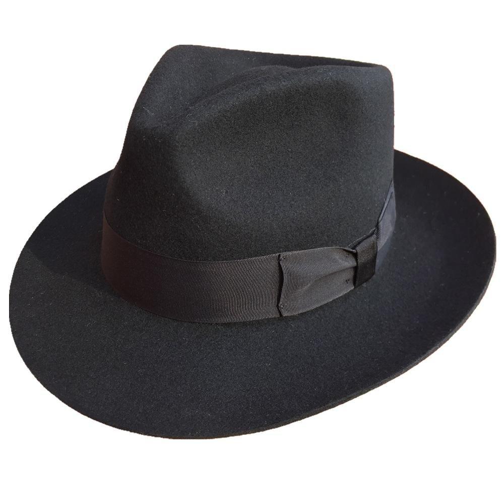 c14330704bc97 Classic Men s Wool Felt Fedora Hat in colors.