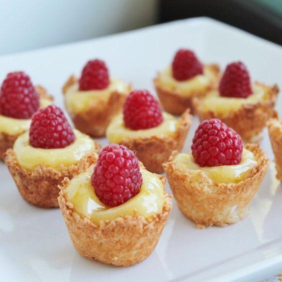 Mini Lemon Coconut Tarts Recipe With Images Coconut Tart