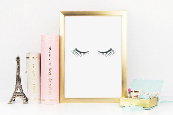 Eyelash Print Lashes Print Makeup Print by RainCityDesignCo