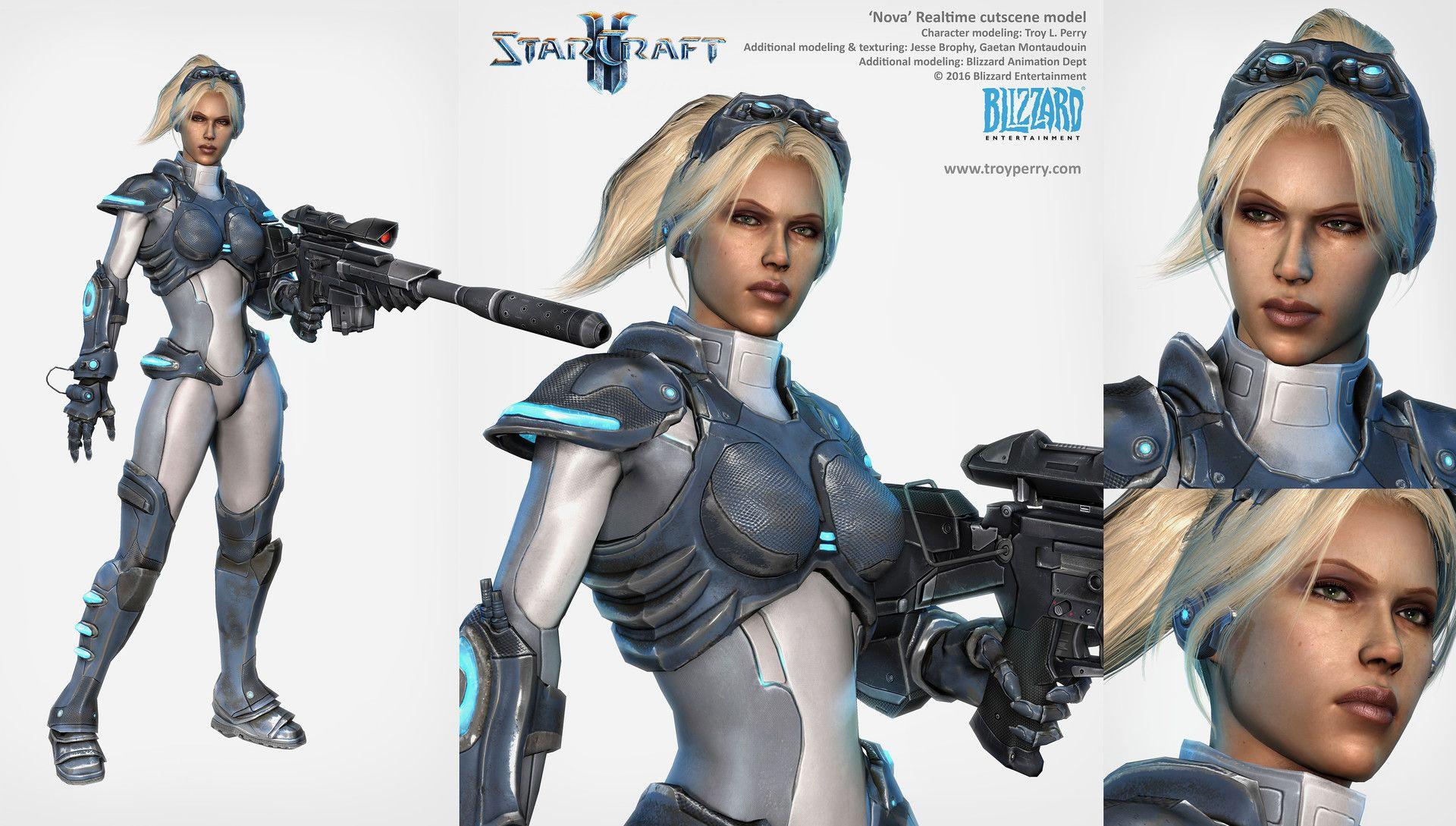 ArtStation - Starcraft2: Nova character model, Troy Perry