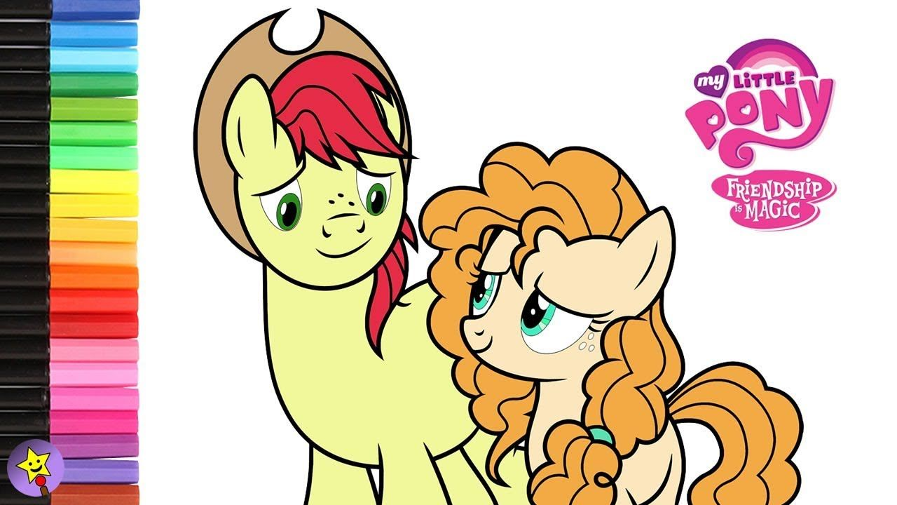 My Little Pony Pear Butter And Bright Mac Coloring Book Page Video Pear Butter Coloring My Little Pony Coloring My Little Pony Drawing My Little Pony Wallpaper