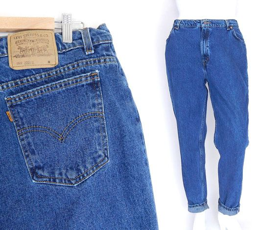 3c98981efcc2d Sz 16 Levis 9922 High Waisted Mom Jeans - Vintage 90s Plus Size Women s  Tapered Leg Indigo Blue Jeans - USA Made All Cotton Levis - Normcore