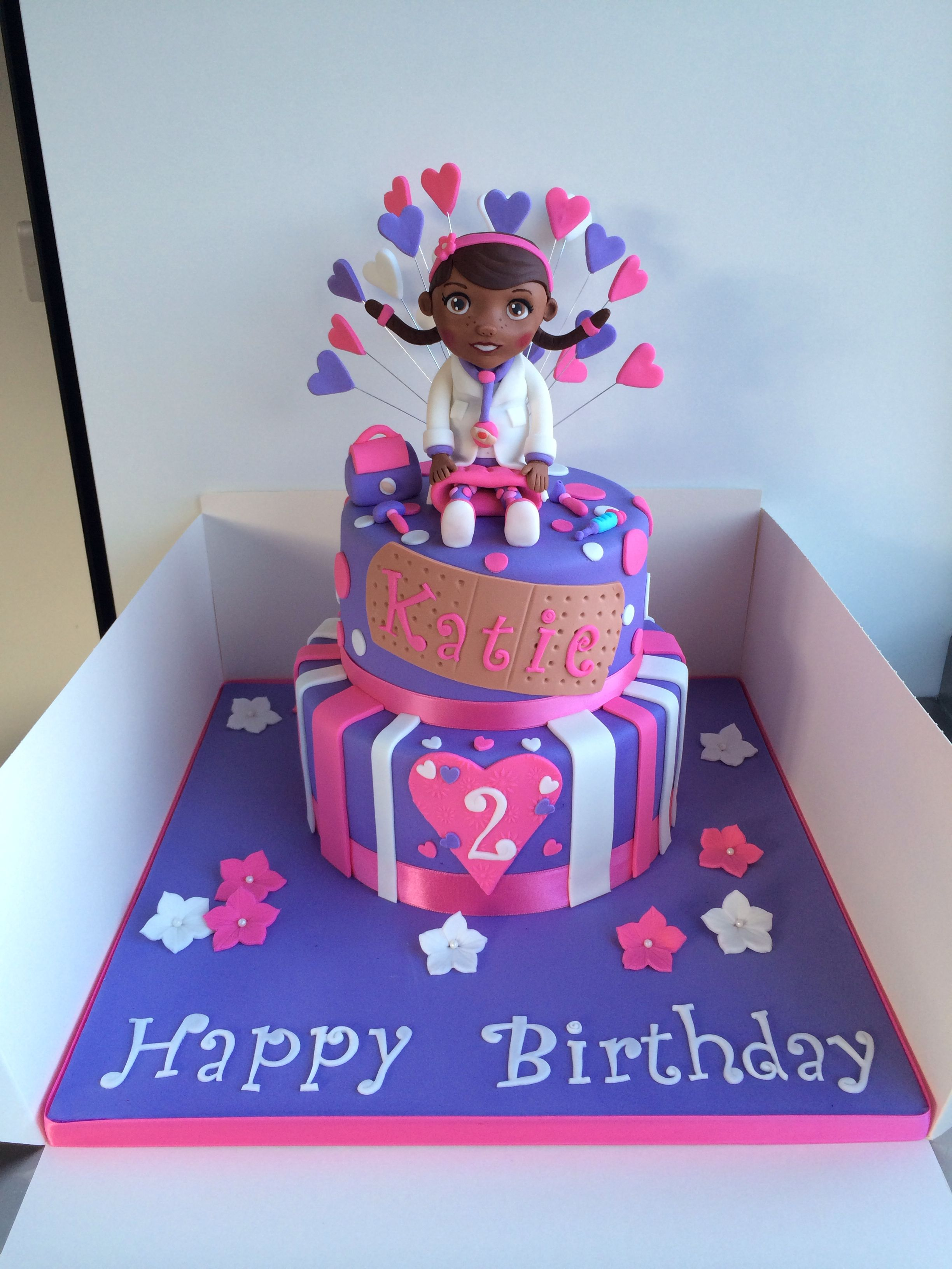Stupendous Doc Mcstuffins Cake With Hand Modelled Doc With Images Doc Funny Birthday Cards Online Elaedamsfinfo