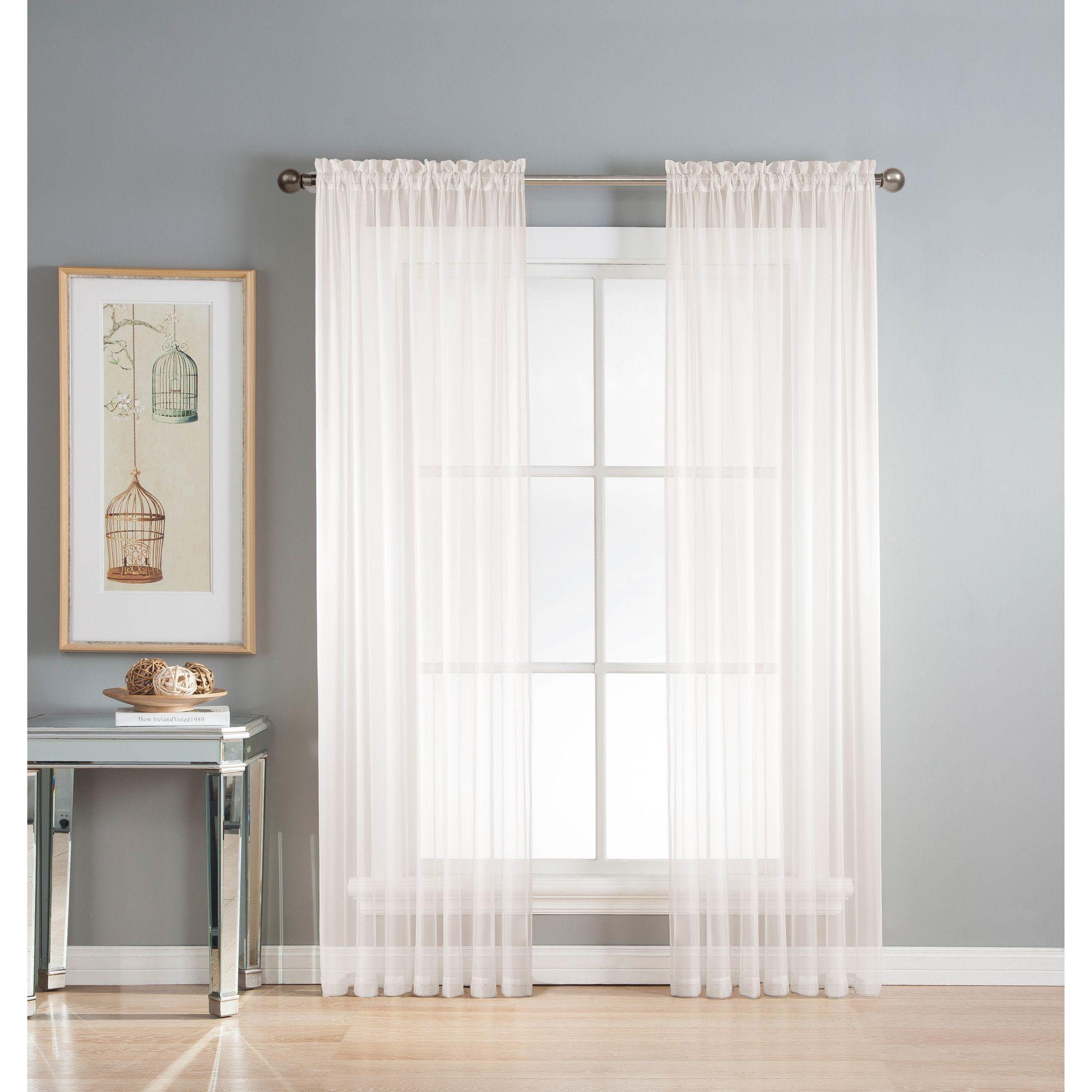 Plant City Geometric Semi Sheer Grommet Curtains Set Of 2