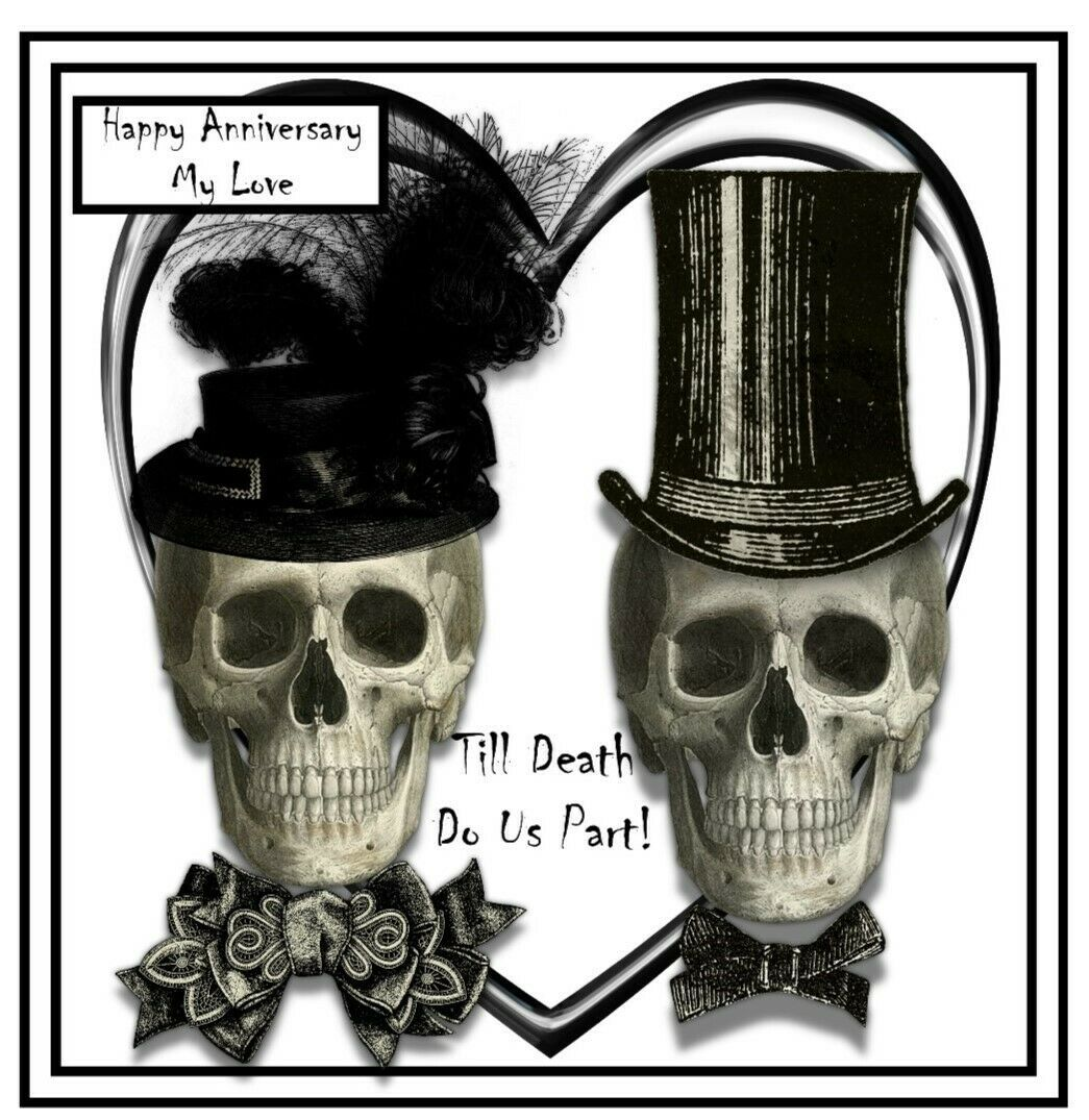 Details about gothic anniversary card personalisation and