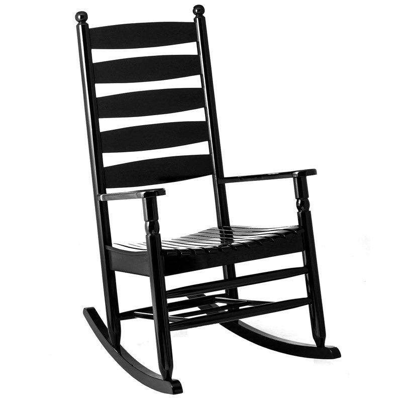 Ladderback Rocker Black Porch Rocker Outdoor Rocking Chairs Rocking Chair