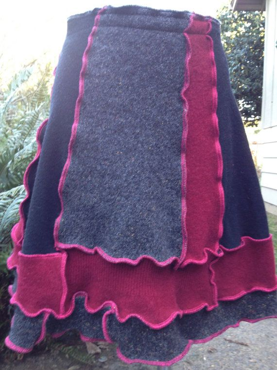 Wool Skirt Upcycled Recycled Felted Sweaters by danamurphydesigns, $45.00