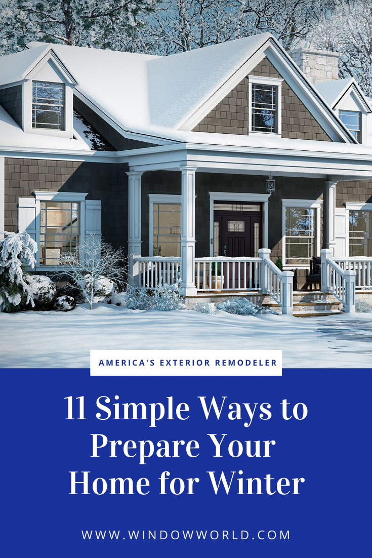 11 Simple Ways To Prepare Your Home For Winter In 2020 Drafty Windows Windows Window Installation