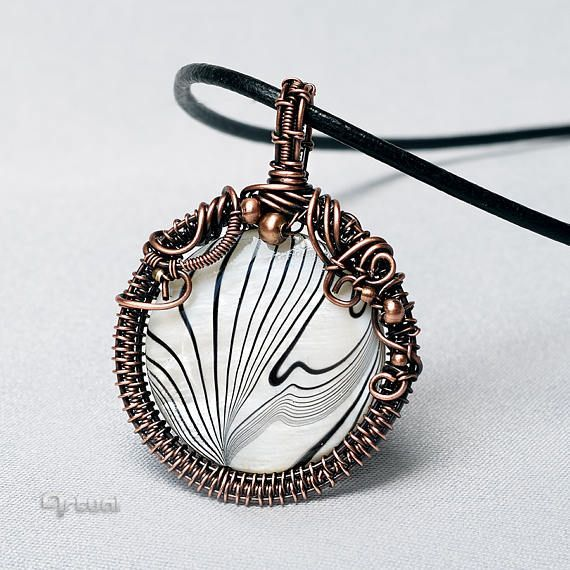 Wire wrapped copper pendant wire jewelry girlfriend gift | Handmade ...