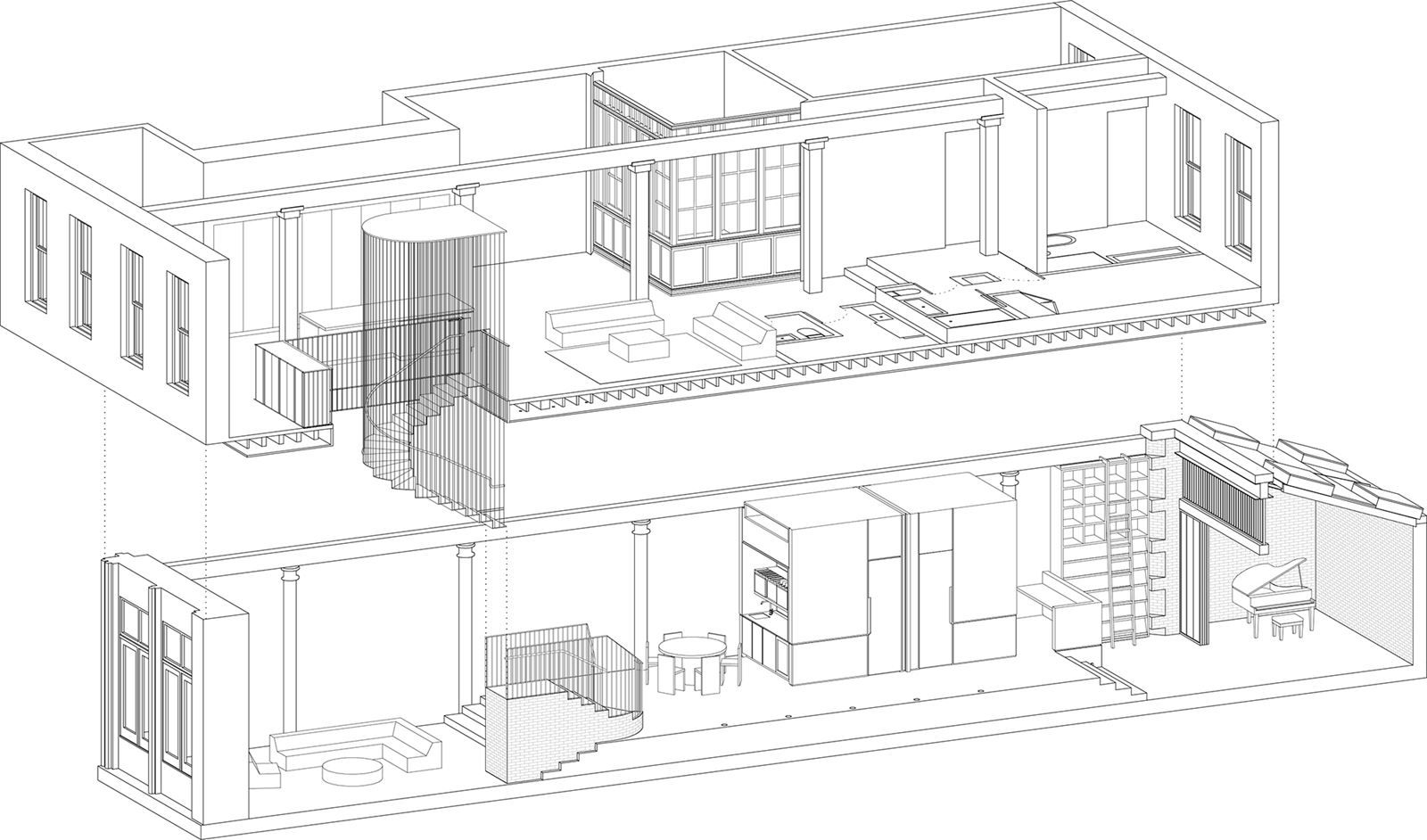 Raft loft picture gallery detail working drawings design