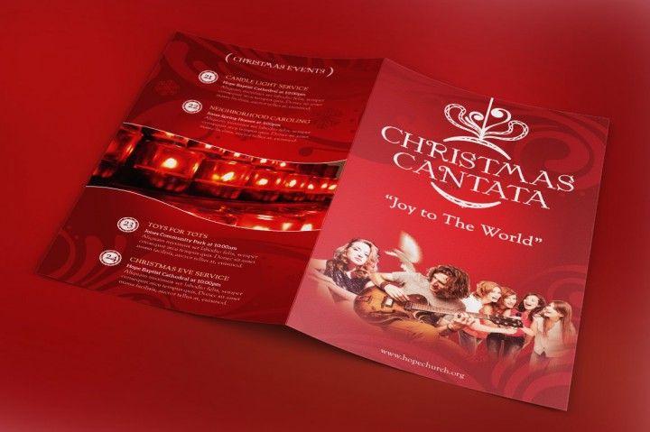 christmas cantata program template christmas print templates