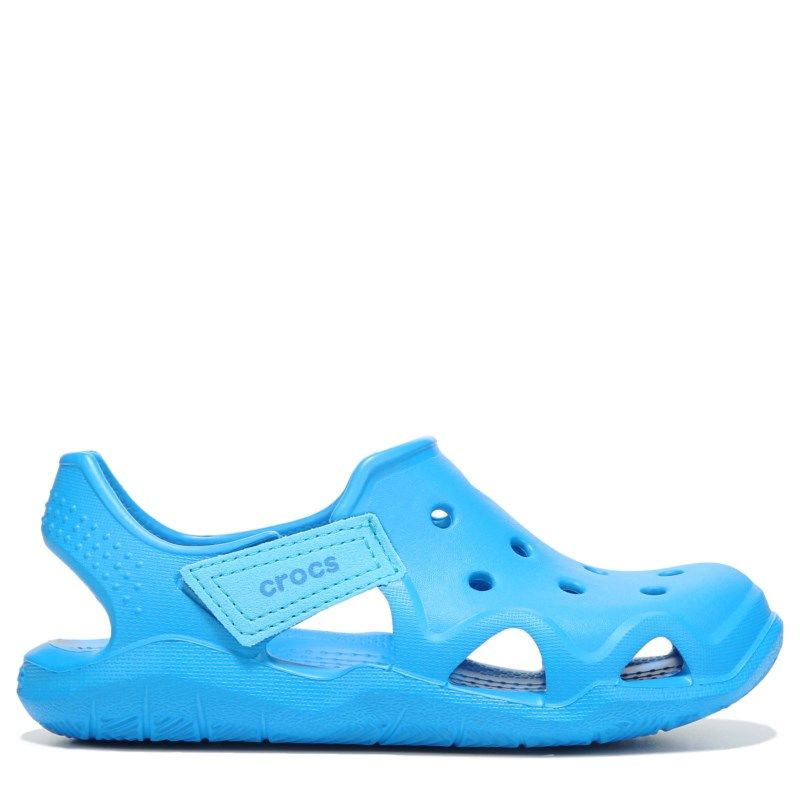 0c618b7e9 Crocs Kids  Swiftwater Wave Sandal Toddler Preschool Shoes (Ocean Blue) -  13.0 M