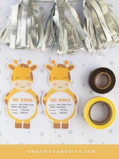 Invitación Baby Shower Jirafa Imprimible Baby Shower