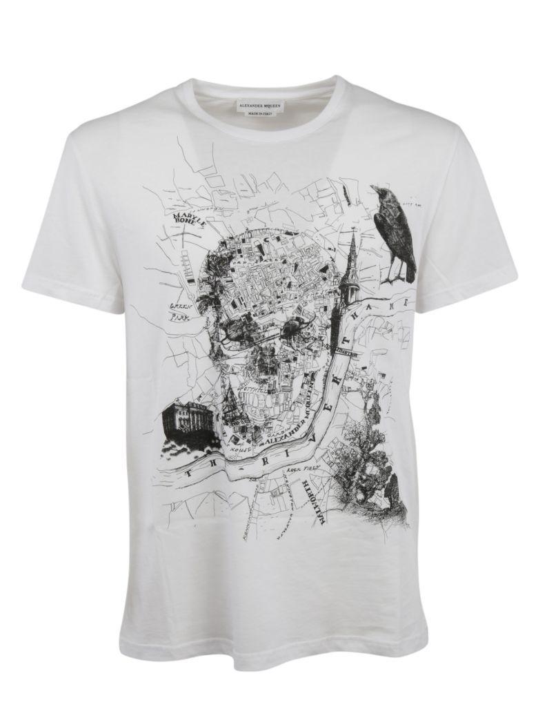 map skull T-shirt - Black Alexander McQueen With Mastercard For Sale Marketable kTE67gPJsM