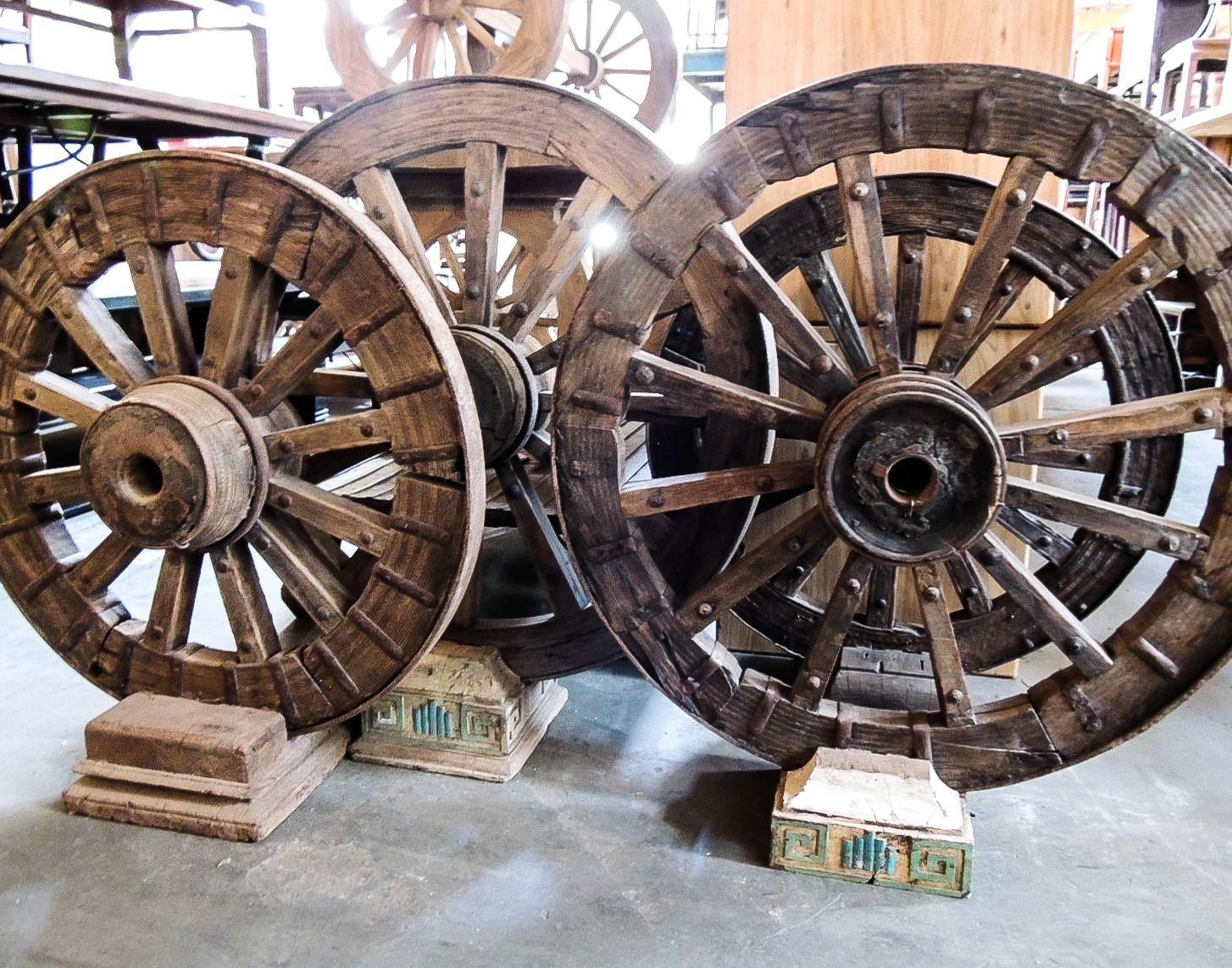 Wooden Wagon Wheels Wood Wooden Wagon Wheels Round Vintage