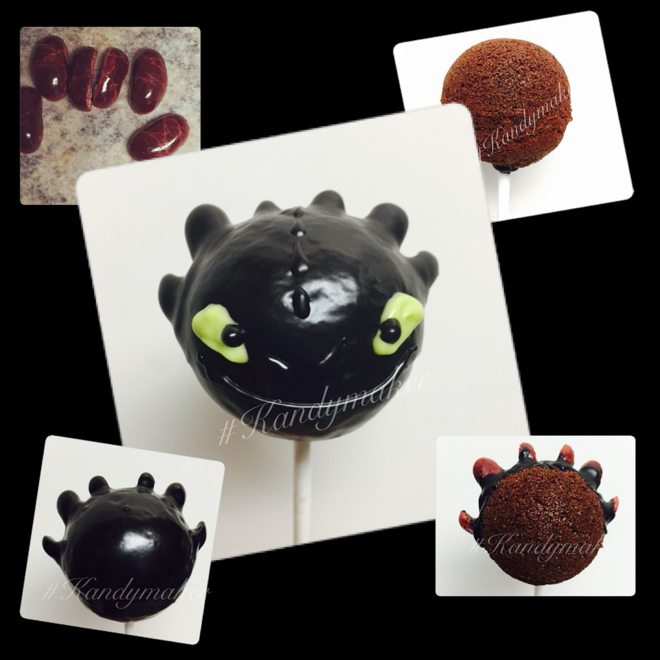 Toothless How To Train Your Dragon Cake Pops Slice One