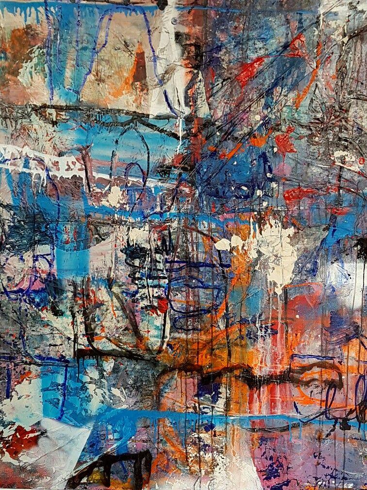 Détails toile 180 x 180 : paintstick, huile, acrylique, ...