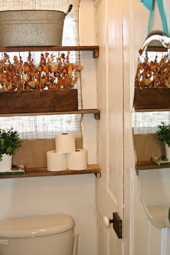 Bathroom Makeovers On A Dime bathroom makeover on a dime | pallet shelves, tiny bathrooms and