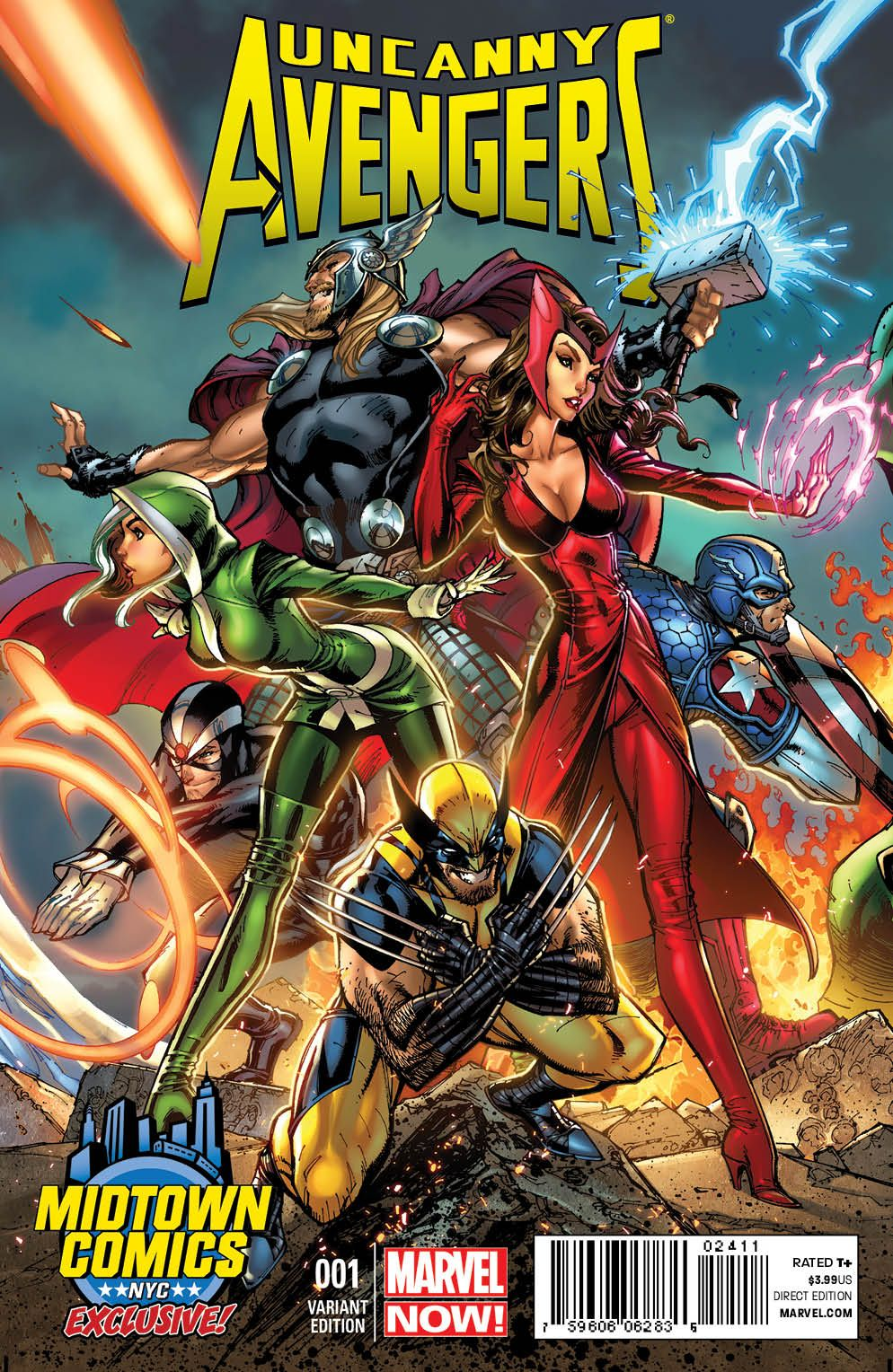 The First Of Three Midtown Comics Exclusive Marvel NOW Covers By J Scott Campbell