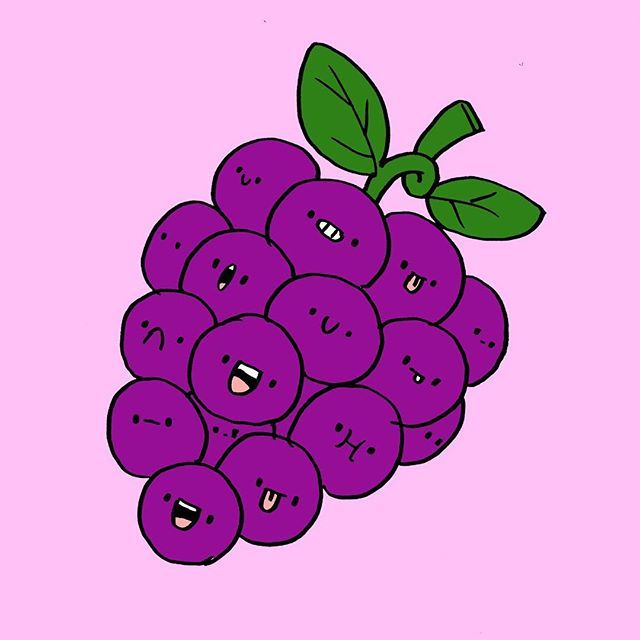 Uvas Kawaii Uvas Food Kawaii Drawing Drawings 365bocetos