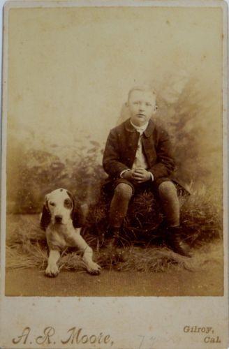 19th Century Cabinet Card A R Moore Artist Photographer Gilroy California | eBay