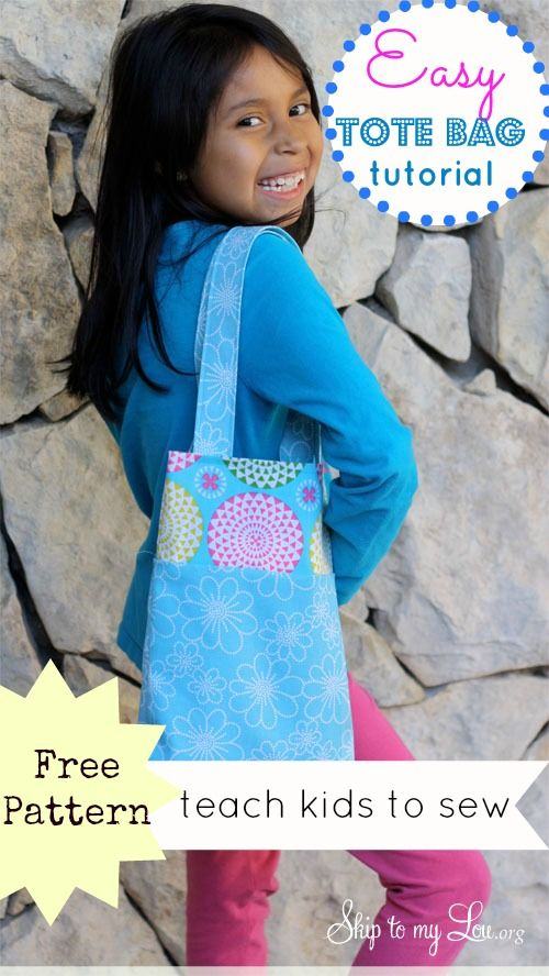 11 Sewing Projects Kids Will Love to Make   Pinterest   Tote bag ...