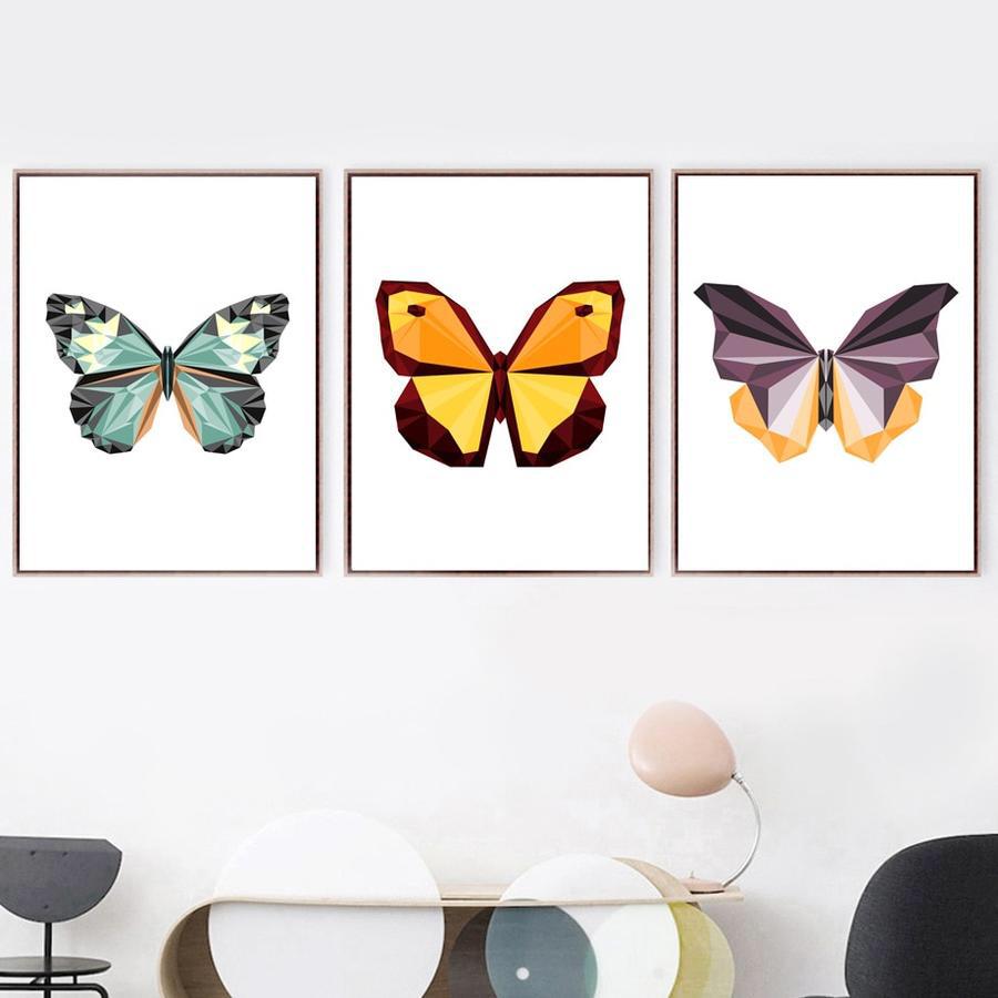 Cartoon Butterfly Wall Art Canvas Print Lewe Decor Butterfly Wall Art Canvas Art Prints Canvas Wall Art