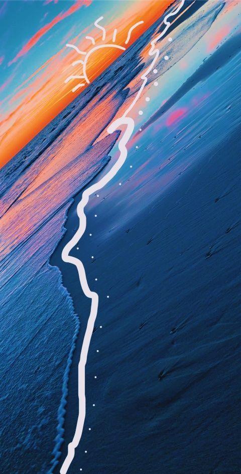 beach vibezzz Follow the Dreamweaver for more - Background
