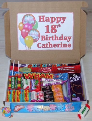 Happy Birthday Personalised Sweet Gift Box Present 18th 21st 30th 40th 50th Etc