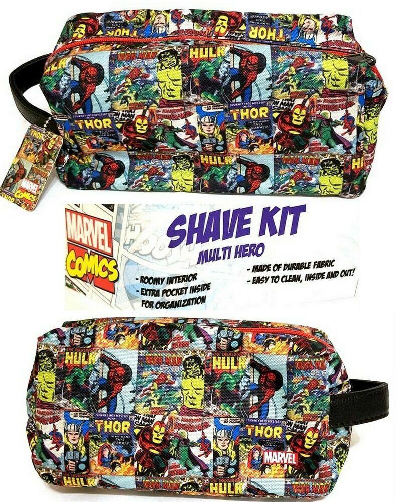 Marvel Iron Man Military Canvas Toiletry Bag Super Hero Avengers Men/'s Boy/'s
