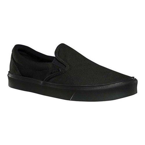 b8efc6dc27a8 Vans Slip-On Lite - Black Black Canvas Slip-on Shoes