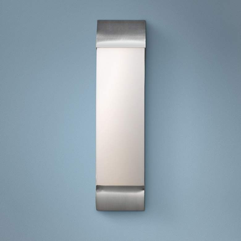 West End 17 High Brushed Steel Led Wall Sconce 32y62 Lamps Plus In 2020 Led Wall Sconce Sconces Wall Sconces