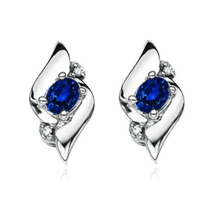 Angara Oval Sapphire Shell Earrings in Rose Gold X5M78qCJx