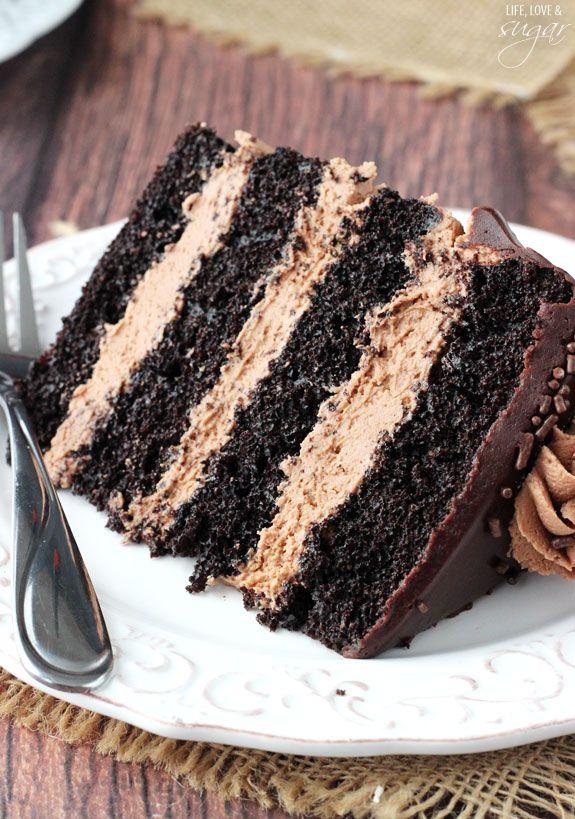 Kuchen mit butter und schokolade