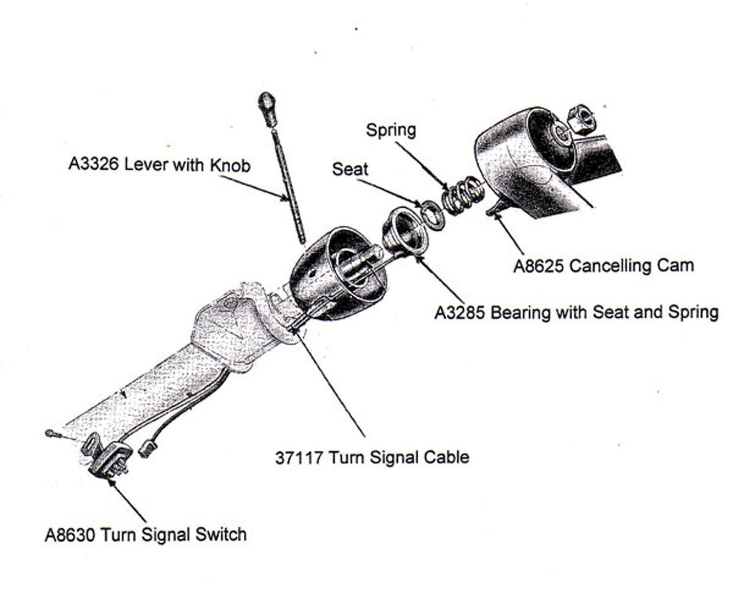 Image Result For Ford Falcon Steering Column Exploded